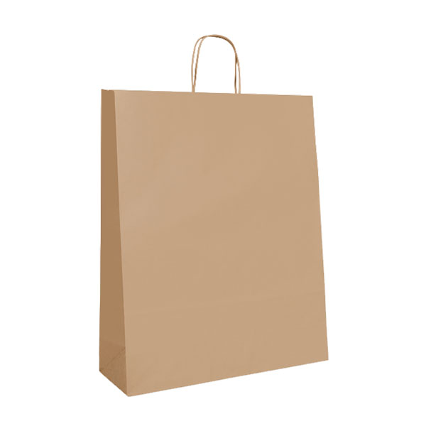Budget Recycled Carry Bags - Brown