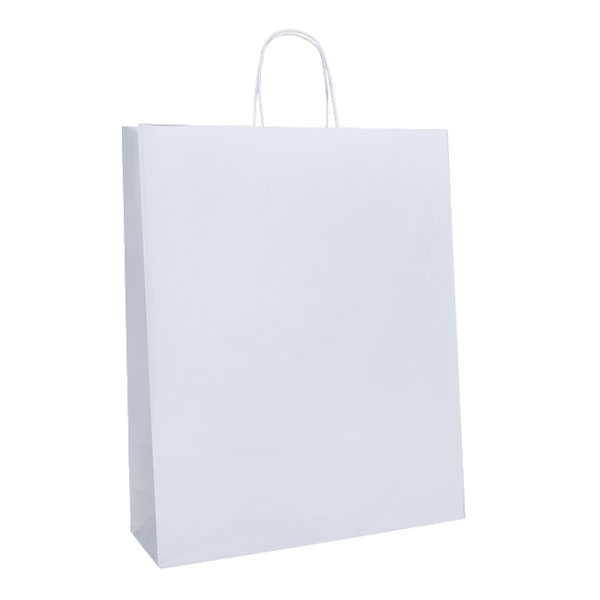 Budget Recycled Carry Bags - White