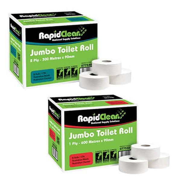 Rapid Clean Jumbo Toilet Rolls