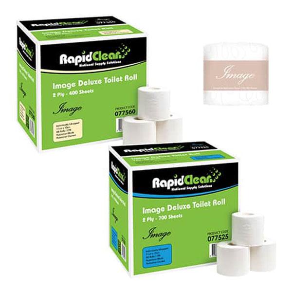 Rapid Clean Image Deluxe 2ply Toilet Rolls